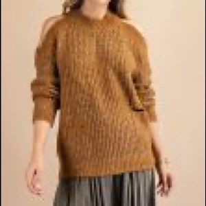 NWT COLD Shoulder Sparkle Sweater NWT